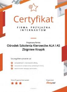 Certyfikat FPI
